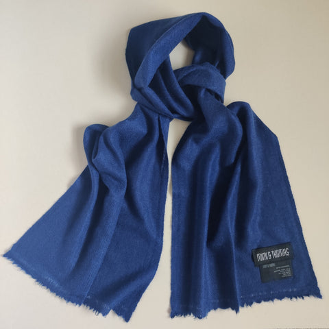 Personalised Navy Pure Cashmere Unisex Scarf