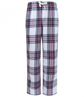 Children Cotton Checked Lounge Pants