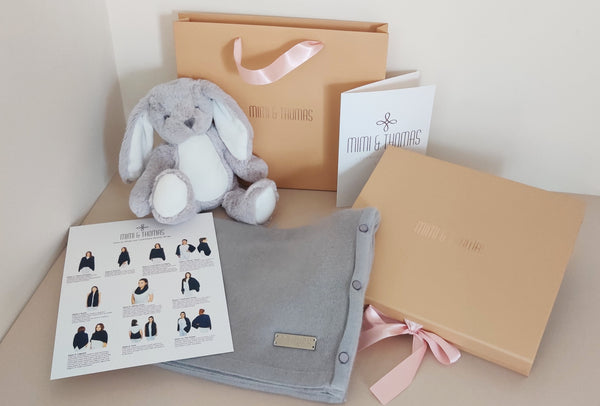Personalised Mum to Be Cashmere & Bunny Gift Set