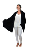 Pure Cashmere Wrap- Black
