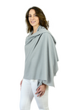 Personalised Grey Pure Cashmere Wrap
