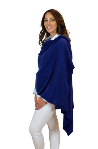 Personalised Navy Pure Cashmere Wrap