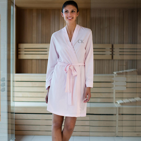 Personalised Pink Cotton Robe