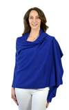 Personalised Royal Blue Pure Cashmere Wrap
