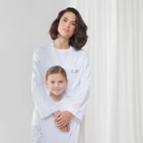 Personalised White Cotton Robe