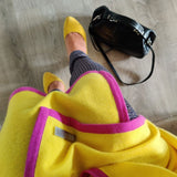 Personalised Yellow Pure Cashmere Wrap