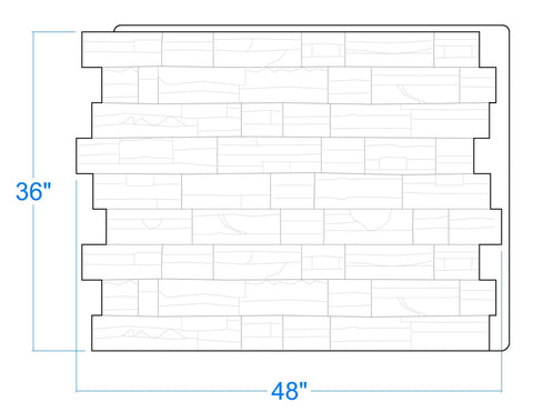 "Colorado Faux Stone Panels (36"" High x 48"" Wide x 1 5/8"" Thick)"