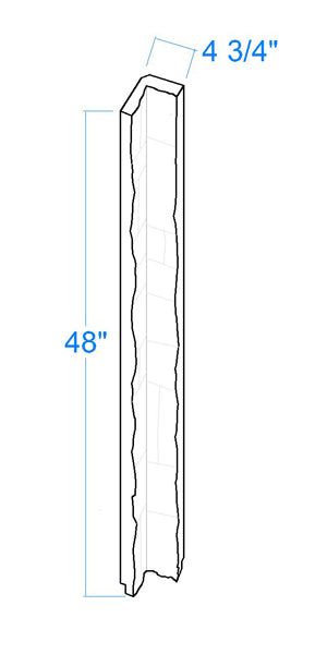 "Carolina Joint Inside Corners Dimensions (48"" high="""" x="""" wide="""" thick="""