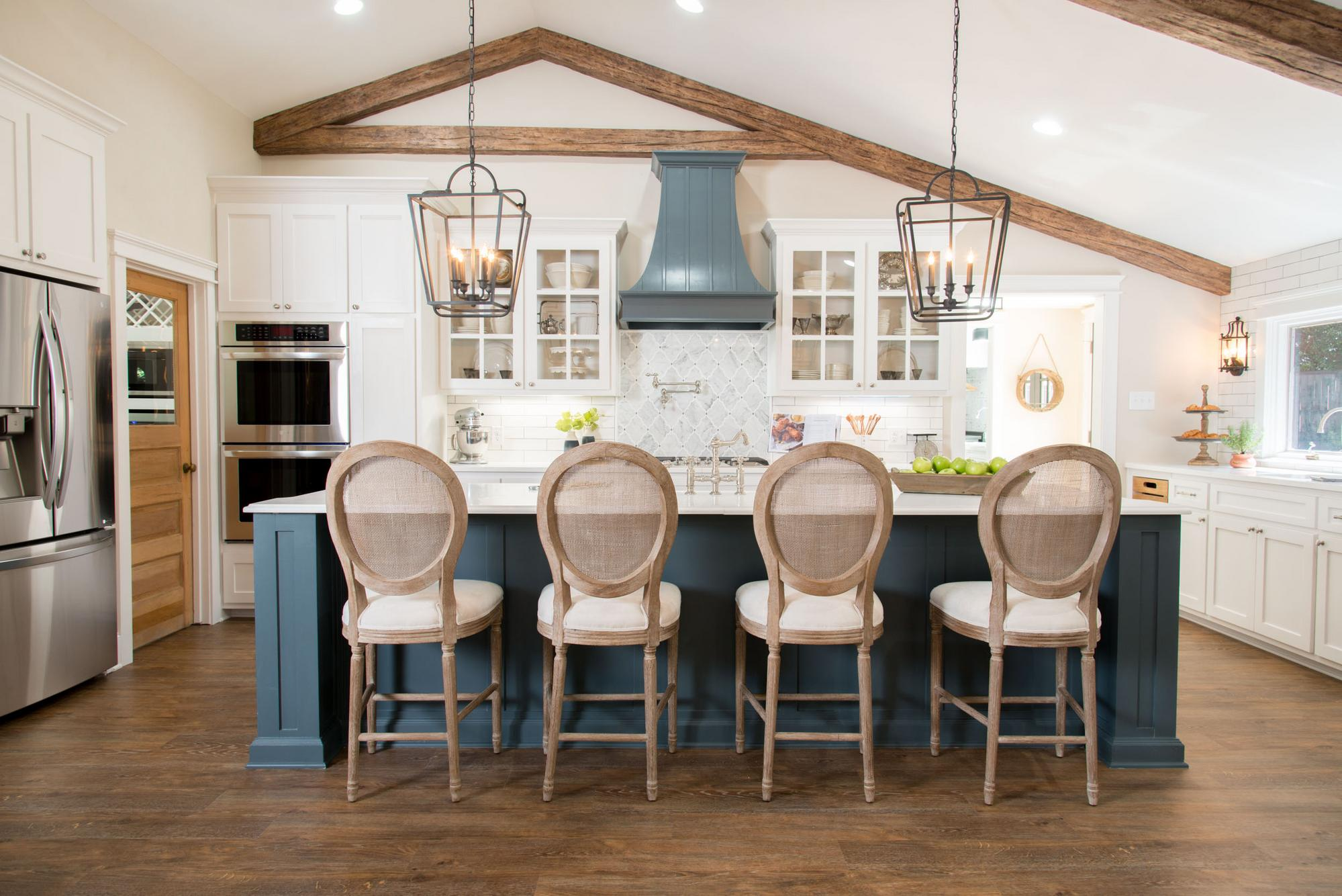 Faux Beams - Kitchen - Fixer Upper Episode