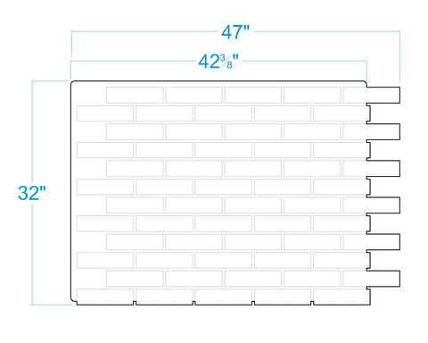 "Contemporary Faux Brick Panels Dimensions (32"" high="""" x="""" wide="""" thick="""