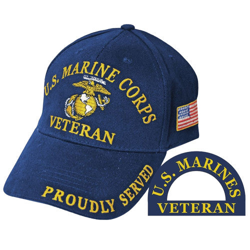 United States Marine Corps Veteran Proudly Served Hat
