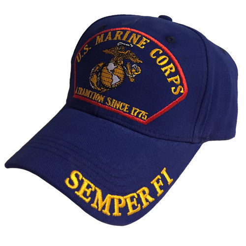 U.S. Marine Corps Tradition Since 1775 Semper Fi Hat (Blue)