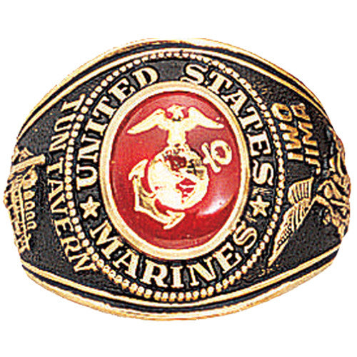 USMC Marines Deluxe Engraved Ring