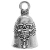Guardian Bikers Ghost Rider Good Luck Bell Key Ring
