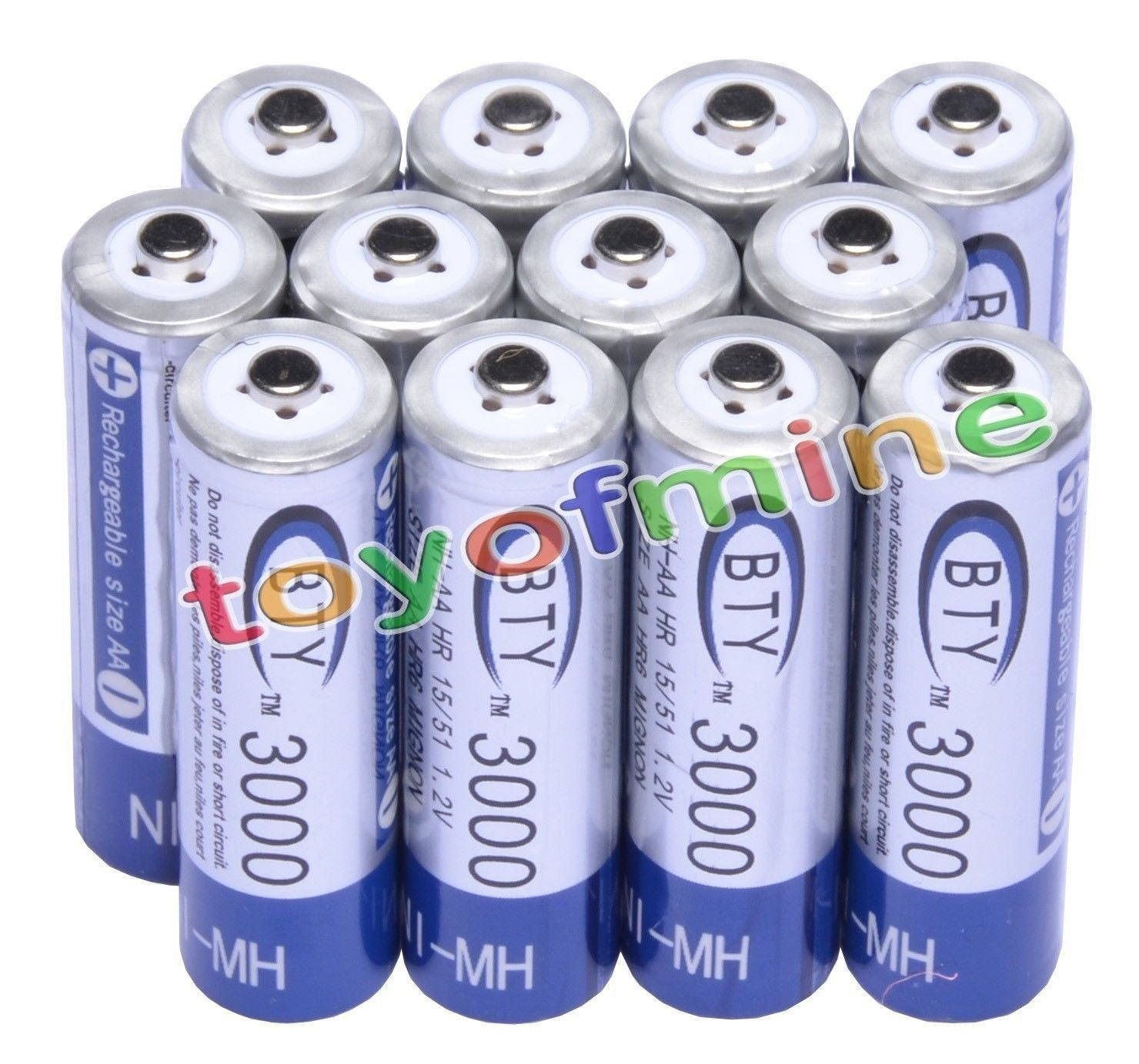 12 Rechargeable Batteries