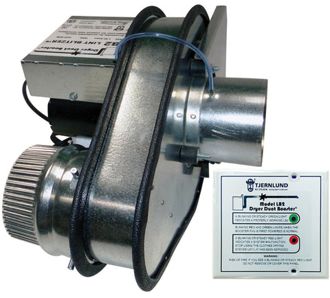 The Lint Blitzer™ UL-705 Listed Dryer Duct Booster Fan (DEDPV) Model LB2