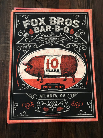 10th Anniversary Poster from Justin Helton of Status Serigraph