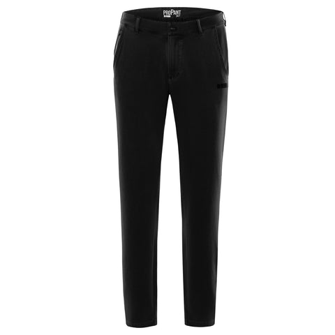 MENS FASHION CHINO PANT- NO UNDERWEAR NEEDED - GARMENT DYED BLACK