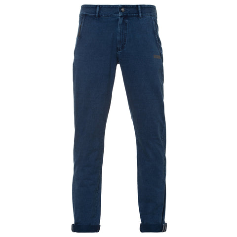 MENS CHINO DENIM EFFECT PANT- NO UNDERWEAR NEEDED - DARK BLUE