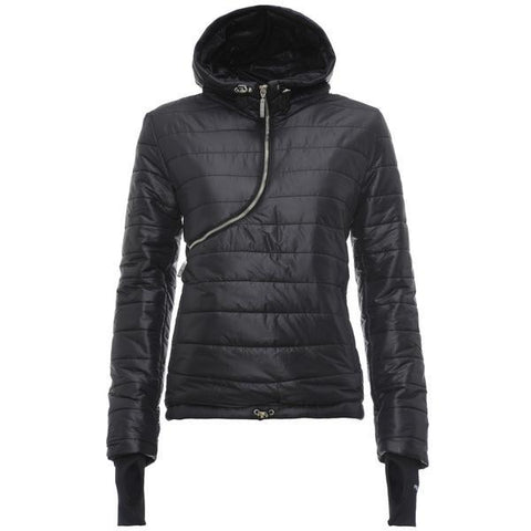 CURVE PUFFER JACKET - BLACK