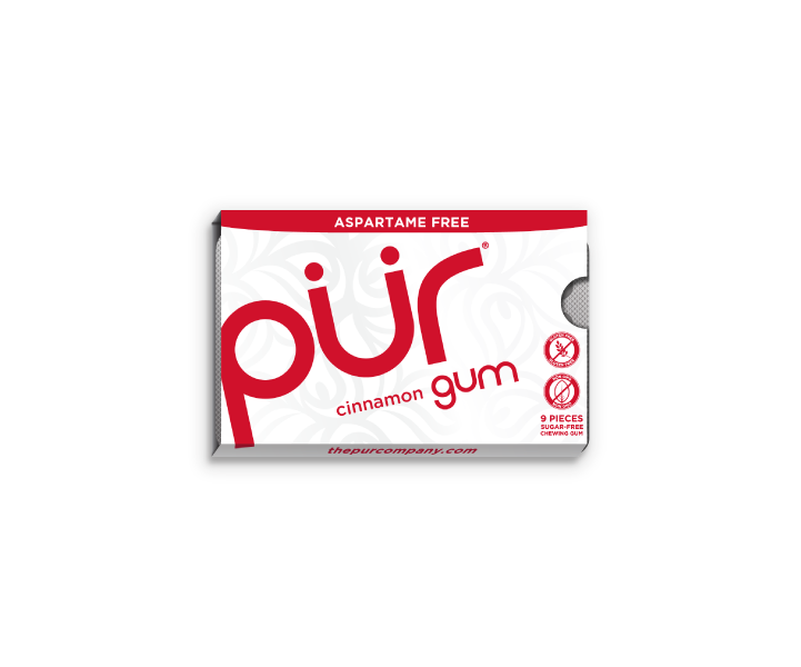 Single Gum Packs, Cinnamon, , The PUR Company, PUR Gum, aspartame free gum, sugar free gum, pack of gum, packs of gum, chewing gum, natural gum, xylitol gum - 7