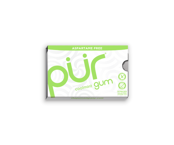 Single Gum Packs, Coolmint, , The PUR Company, PUR Gum, aspartame free gum, sugar free gum, pack of gum, packs of gum, chewing gum, natural gum, xylitol gum - 4