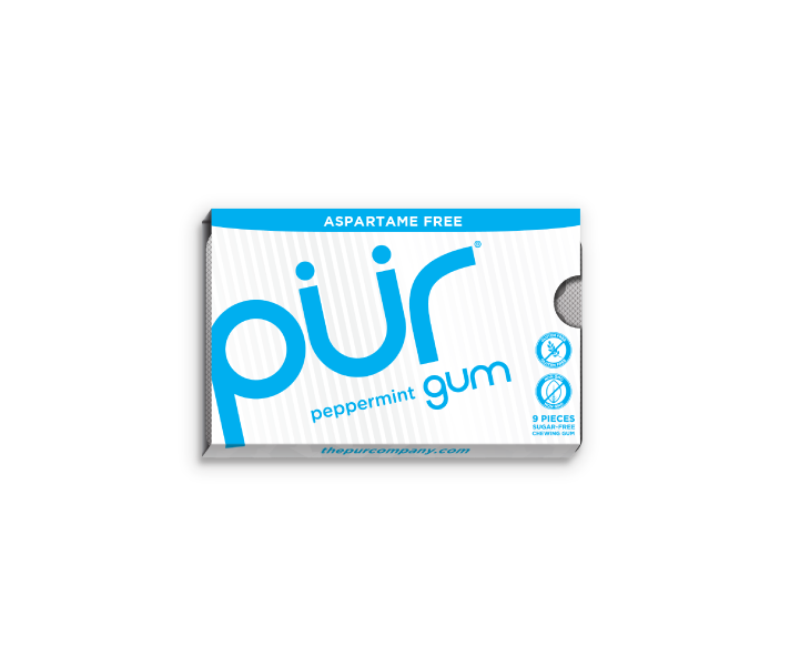 Single Gum Packs, Peppermint, , The PUR Company, PUR Gum, aspartame free gum, sugar free gum, pack of gum, packs of gum, chewing gum, natural gum, xylitol gum - 2