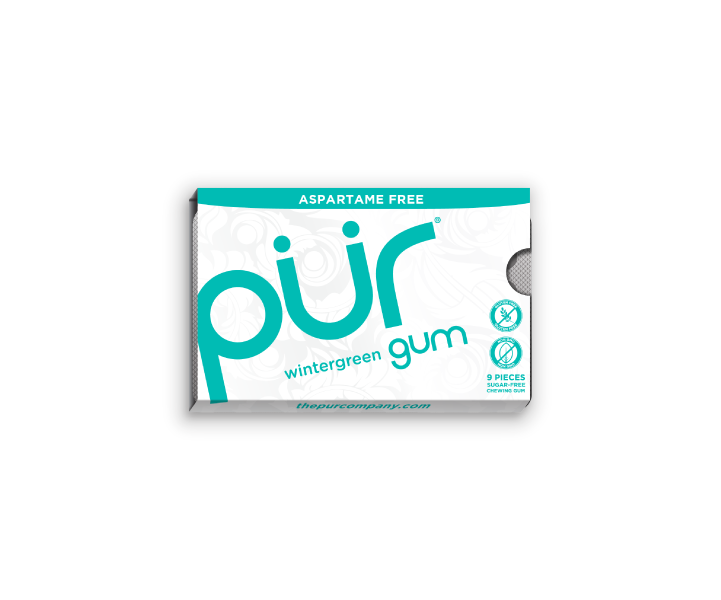 Single Gum Packs, Wintergreen, , The PUR Company, PUR Gum, aspartame free gum, sugar free gum, pack of gum, packs of gum, chewing gum, natural gum, xylitol gum - 3