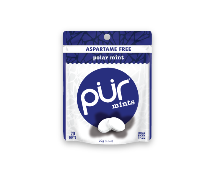 Single Mint Pouches, Polar Mint, , The PUR Company, PUR Gum, aspartame free gum, sugar free gum, pack of gum, packs of gum, chewing gum, natural gum, xylitol gum - 5