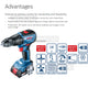 New Bosch GSB 18V-50 Professional Robust Brushless Motor Cordless Impact Drill ( Bare tool only ) - GIGATOOLS.PH