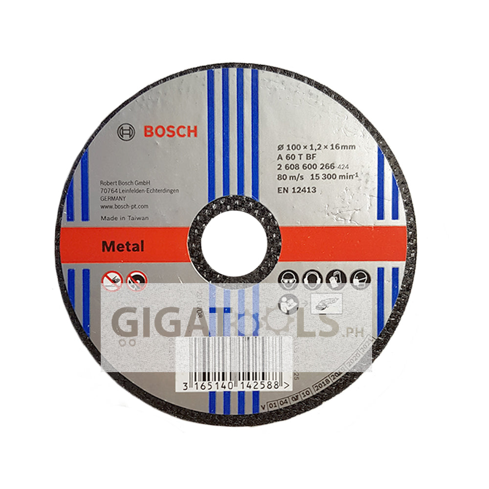 "Bosch 4"" Cutting Disc Thin 1.2mm for Metal ( 2608600266 )"