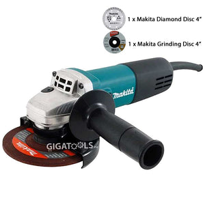 "Makita 9556HN 4"" (100mm) Angle Grinder (840W) - GIGATOOLS.PH"