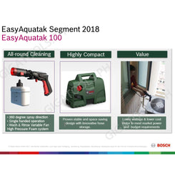 New Bosch Easy Aquatak 100 Pressure Washer (New Version)