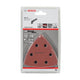 Bosch 10pcs Starlock Redwood Top Sanding Disc for Wood ( 2608607540 )