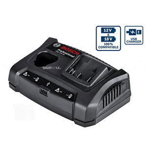 Bosch GAX 18V-30 Professional 18V, 12V & USB Dual Bay (3 in 1) Charger - GIGATOOLS.PH