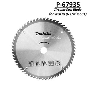 "Makita P-67935 TCT Circular Saw Blade for Wood 165mm (6 1/4"" x 60T) ( CIRSWBL ) - GIGATOOLS.PH"