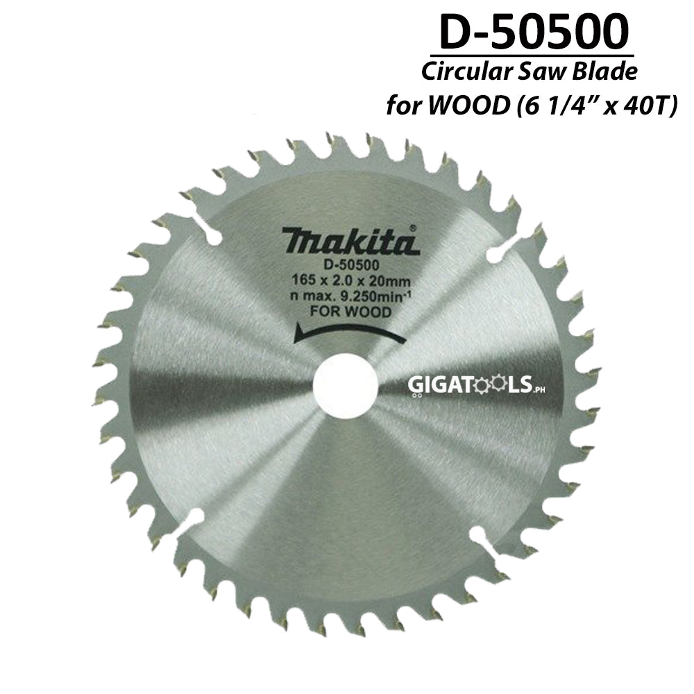 Makita D-50500 TCT Circular Saw Blade for Wood 165mm (6 1/4