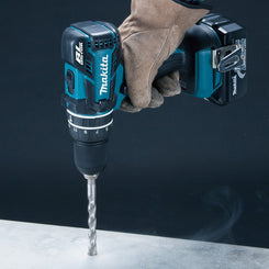 "Makita DHP480RFE Cordless Hammer Driver Drill 1/2"" 18V with Brushless DC Motor"