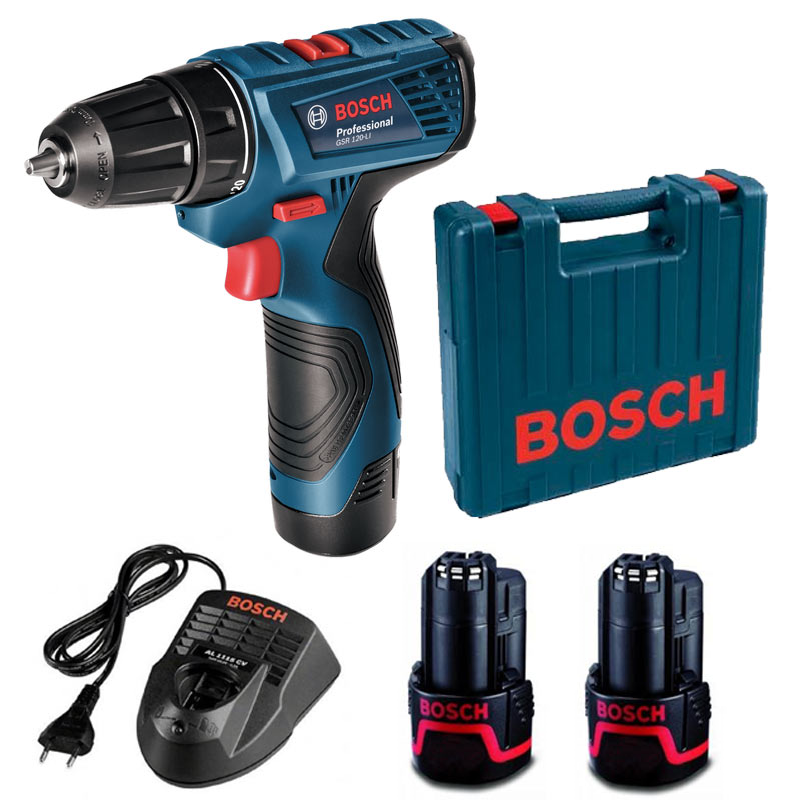 bosch gsr 120 li cordless drill driver professional 12v 1. Black Bedroom Furniture Sets. Home Design Ideas