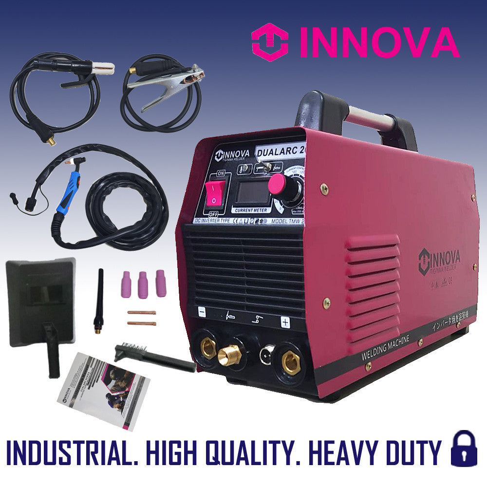Innova Dualarc Dc Inverter Tig Mma Welding Machine 200a Dual Type Diagram Heavy Duty