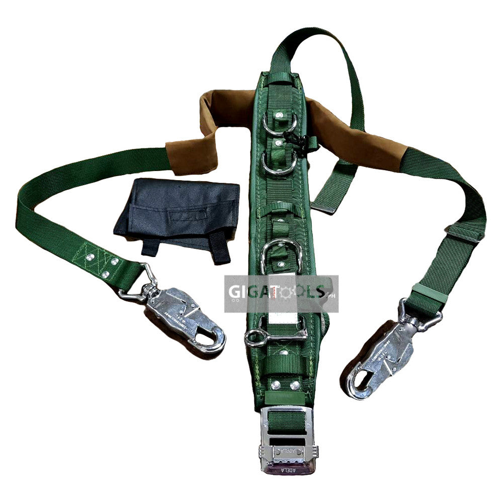 Adela Lineman Safety Harness Heavy Duty Belt With Pole Strap H 117 Gigatools Industrial Center