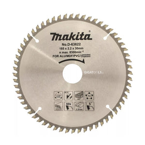 Makita D-63622 Multi Purpose TCT Saw Blade ( 185mm x 30 x 60T ) - GIGATOOLS.PH