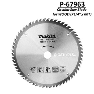 "Makita P-67963 TCT Circular Saw Blade for Wood 185mm (7 1/4"" x 60T) ( CIRSWBL ) - GIGATOOLS.PH"