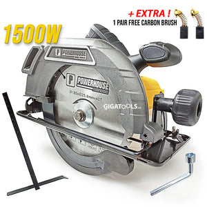 Powerhouse PHCS-C8008 Professional Circular Saw 7-1/4 (1500W) - GIGATOOLS.PH