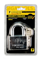 Powerhouse Tools Chrome Plated Padlock 30mm