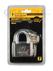 Powerhouse Tools Chrome Plated Padlock 40mm