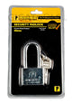 Powerhouse Tools Chrome Plated (Long Shackle) Padlock 40mm - GIGATOOLS.PH