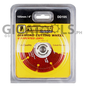 "Powerhouse 4"" (105mm) Diamond Cutting Wheel (Dry Type) - GIGATOOLS.PH"