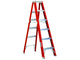 Ridgid Step Ladder - 12ft Fiberglass (Orange) - GIGATOOLS.PH
