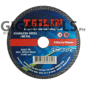 "Tailin 4"" Cutting Disc, for stainless steel, super thin - GIGATOOLS.PH"